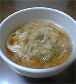 釜揚げうどんのレシピ『白菜とツナの和風スープうどん』